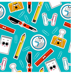 Back to school seamless background vector