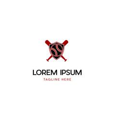 Baseball badge sport team logo vector