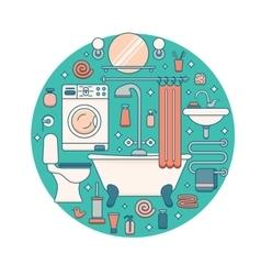Bath equipment icons vector