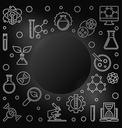 Biotechnology outline frame - biotech vector
