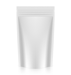 Blank stand up pouch foil or plastic packaging vector image