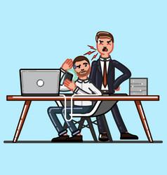 boss and employee vector image