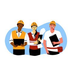 building industry teamwork engineering concept vector image