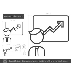 Business conference line icon vector image