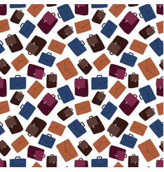 business suitcase seamless pattern vector image