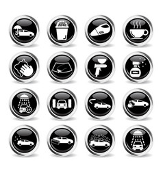car wash simply icons vector image