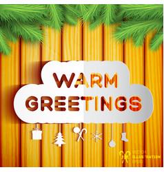christmas greeting template vector image