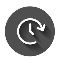 Clock tome icon timer 24 hours sign on black vector