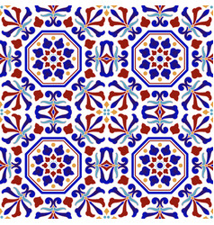 Colorful ceramic pattern vector