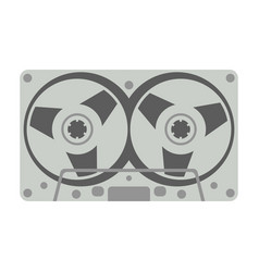 compact cassette flat vector image