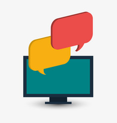 computer technology bubble speech chat vector image
