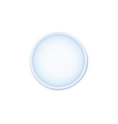 Cotton pad for female hygiene circle sponge vector
