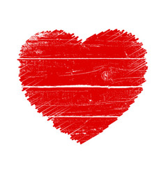 crayon valentine wood 16 vector image