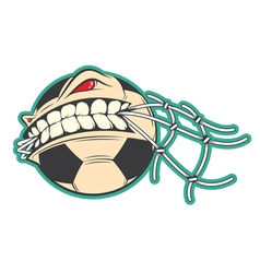 Crazy Soccer sticker vector image