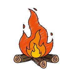 Cute firewood to keep warm vector