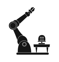 Design of robot and factory logo vector