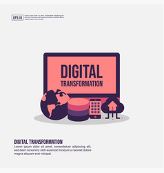 digital transformation concept for presentation vector image