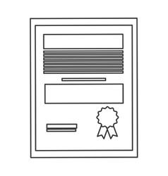Diploma degree icon vector