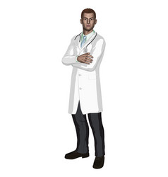 doctor vector image