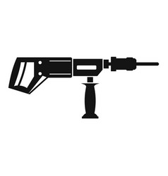 electric drill perforator icon simple vector image