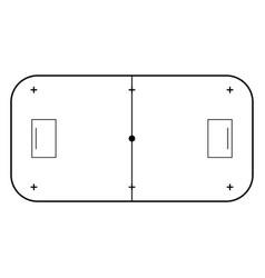 Floorball court line art style sport background vector