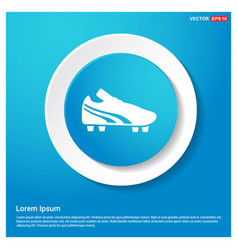 Football boot icon abstract blue web sticker vector