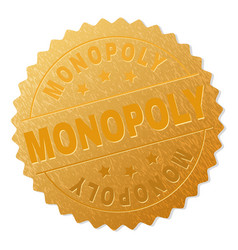Gold monopoly award stamp vector