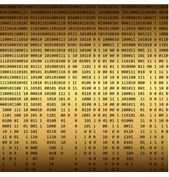 Golden binary background vector