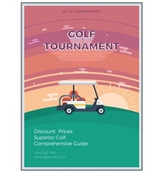 Golf Tournament Flat Poster vector