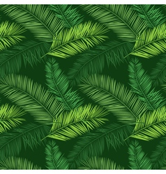 Green palm seamless pattern hawaiian shirt pattern vector