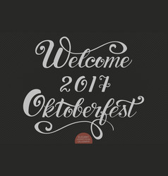 hand drawn lettering - welcome 2017 vector image