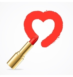 Heart with Red Lipstick vector image
