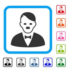 Hitler manager framed icon vector