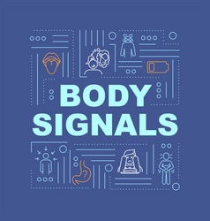 Hunger body signals word concepts banner appetite vector