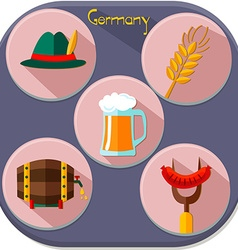 Icons of Germany vector image