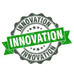 Innovation stamp sign seal vector