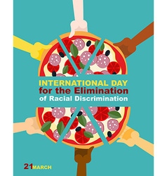 International day for the elimination of racial vector
