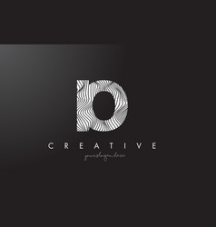 Io i o letter logo with zebra lines texture vector