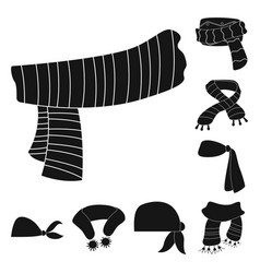 Isolated object of scarf and shawl logo set of vector