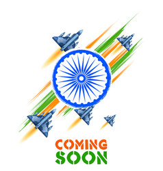 Jet planes flying high on indian tricolor flag vector