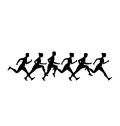 Jogging people vector