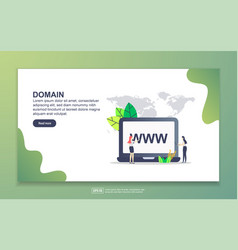 landing page template domain modern flat vector image
