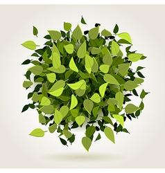 leaf bomb vector image