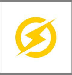lightning bolt icon lightning electric power vector image
