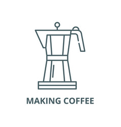 making coffee line icon linear concept vector image