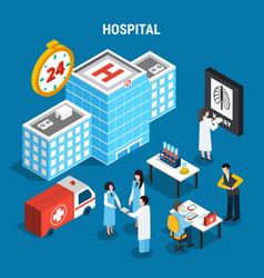 medical isometric set vector image