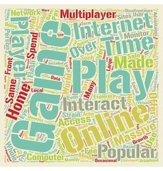 MMORPGs What Are They text background wordcloud vector