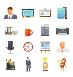 Office Icons Flat Set vector