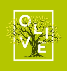 Olive tree letters vector