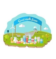 Organic Milk Farm Concept Web Banner vector
